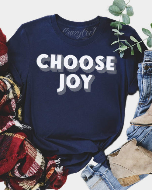 Choose Joy (Navy) - Tee