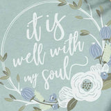 It Is Well With My Soul (Floral Dusty Blue)