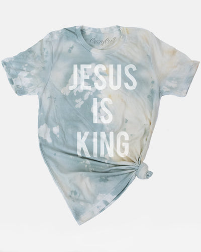 Jesus is King - Bleached Tee