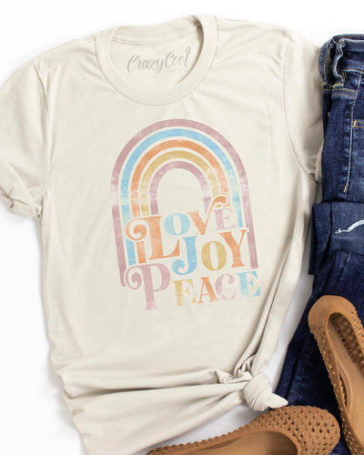 Love Joy Peace (Rainbow) - Tee