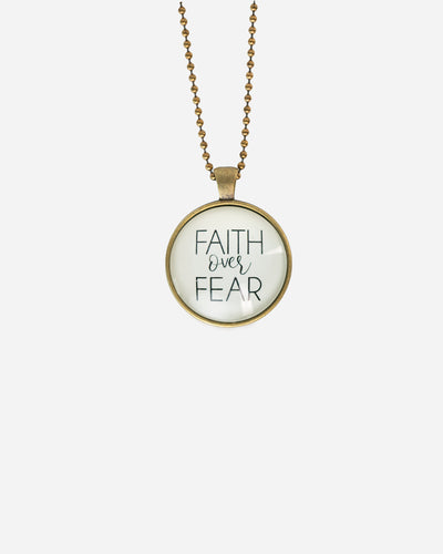 Faith Over Fear (Bubble) - Necklace