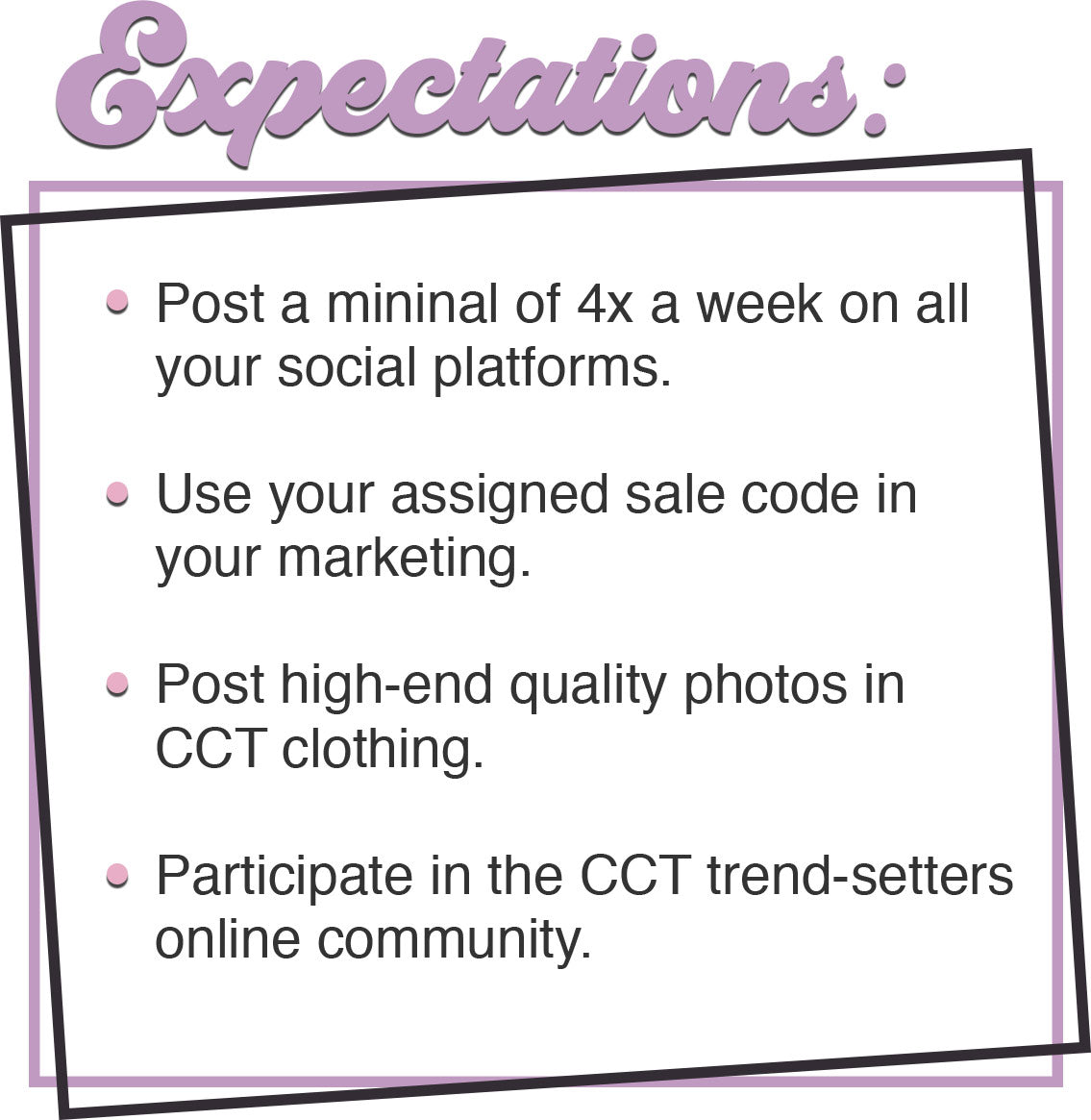 trend-setters expectations