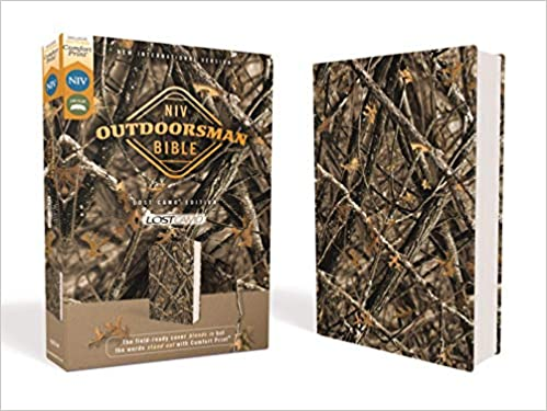 NIV, Outdoorsman Bible, Lost Camo Edition, Leathersoft, Red Letter