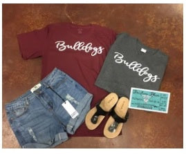 Bulldogs Tee.  $10 Bella Canvas Crew Neck Tee ($14 for V Neck)