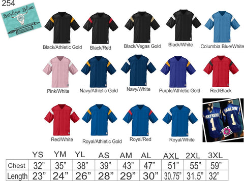 Football Fan Jersey - ADULT Sizes