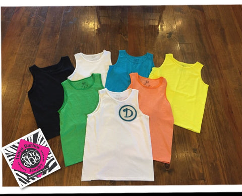 YOUTH Tank Top with ONE InitiaL cjs