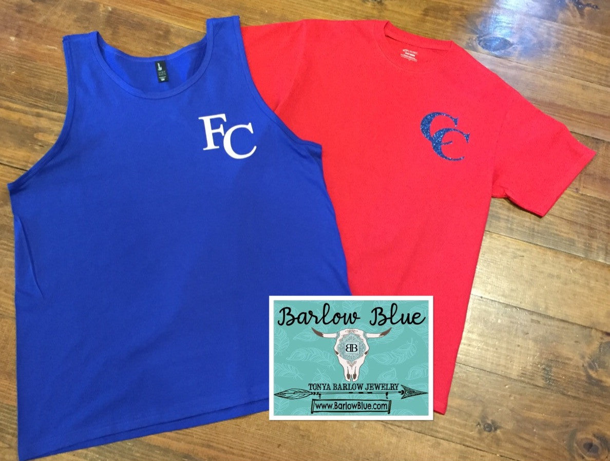 $8 Adult Short Sleeve Tees with One Initial or Small Design! Plus ...