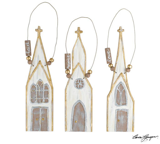 Small Painted Church Ornament