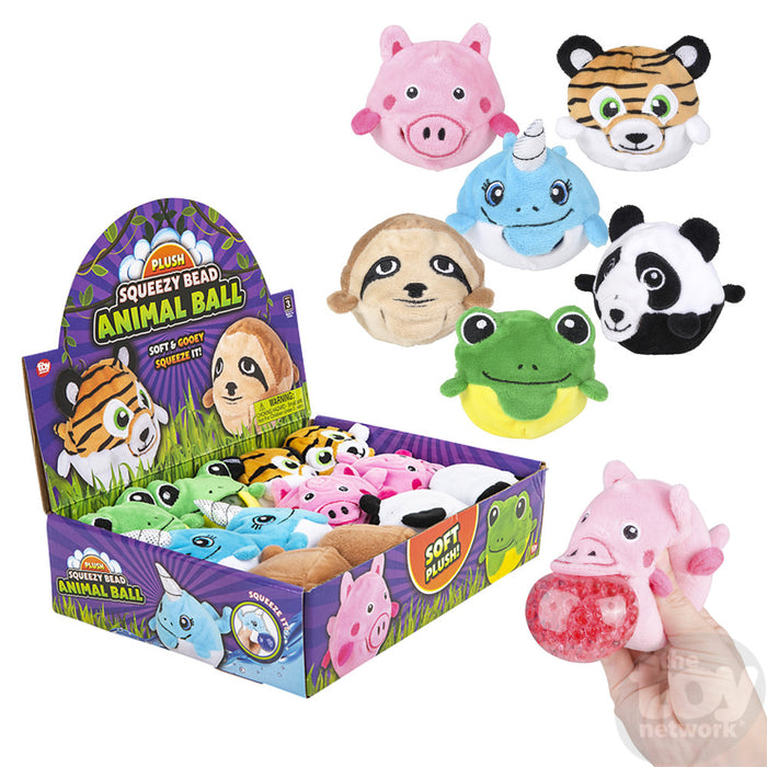 Plush Animal Squeeze Ball