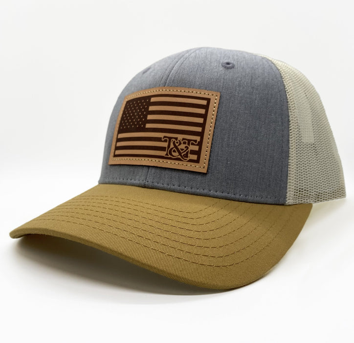 American Flag Patch Hats
