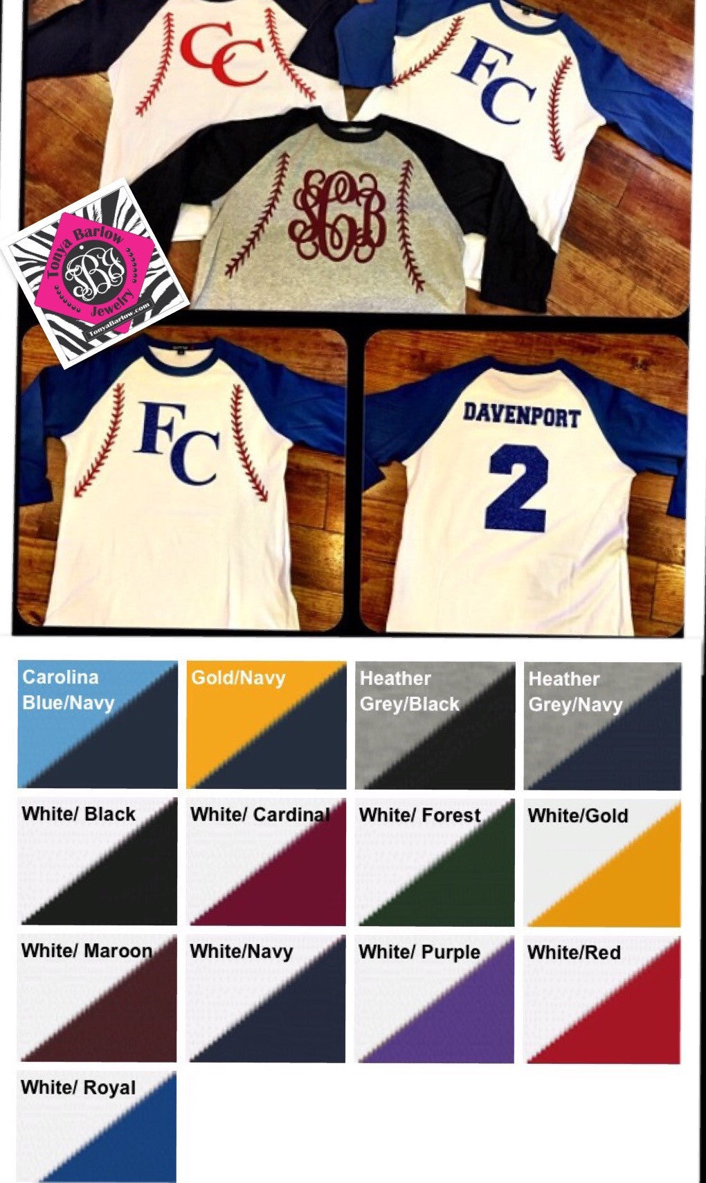 Design your own t-shirt front and back - Baseball Softball Raglan Tee Personalized Front Back Youth Sizes