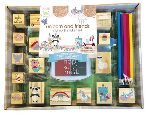 Unicorn Friends Sticker & Stamp Kit