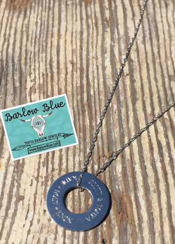 Washer Pendant Personalized Any Way You Choose!