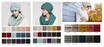CC Brand Beanies for Adults.  Multi Toned or Metallic Colored Beanies.  ADULT SIZE