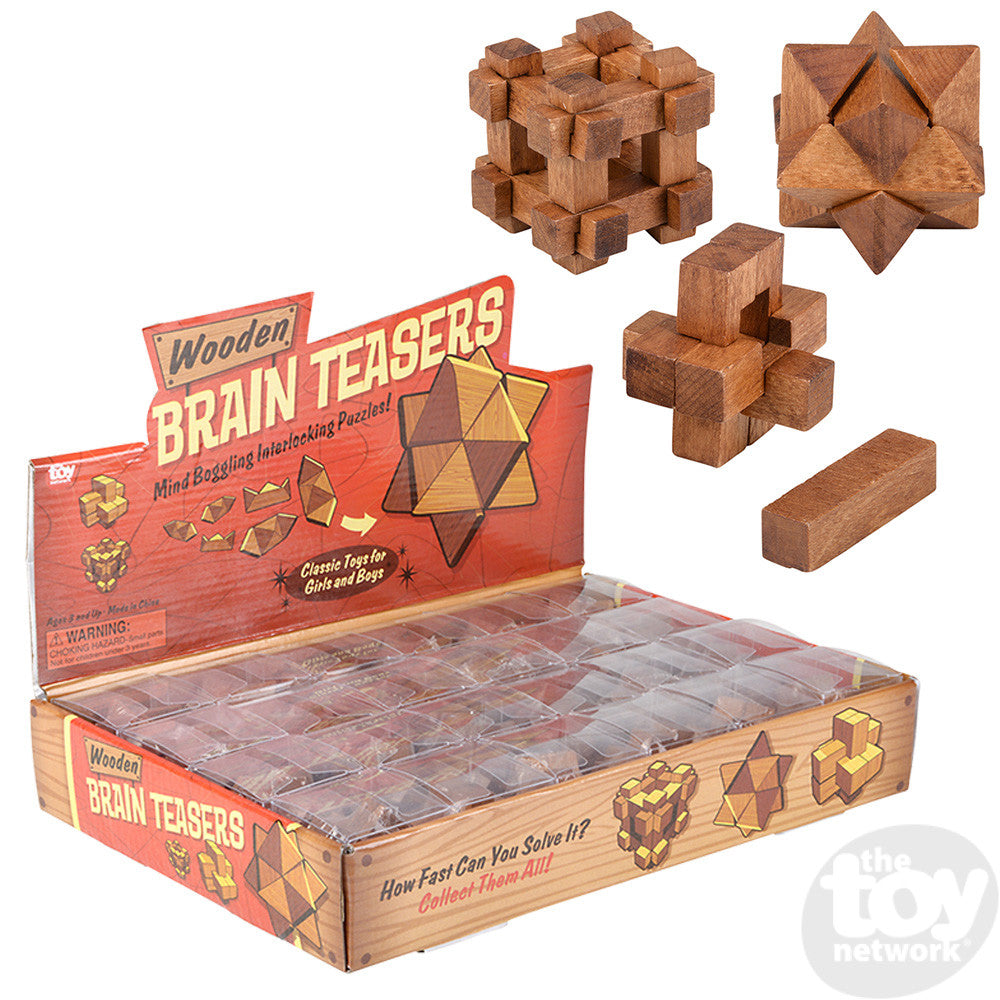 "1.75"" Wood Brain Teaser Puzzles"