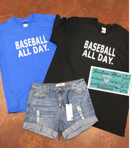 Baseball All Day Tee. Choose your color!