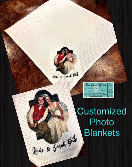 "Customized Photo Blanket.  Throw Blanket Size 50"" x 60"""