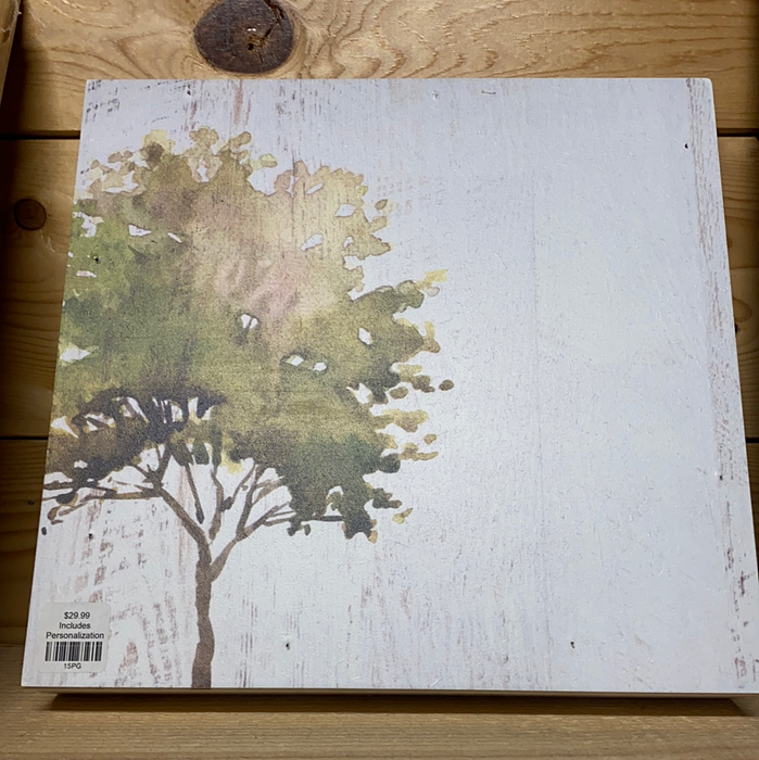 Wooden Canvas  w/Tree