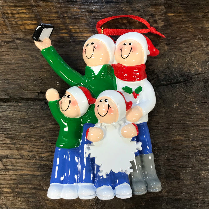 Selfie Family Ornament Personalized