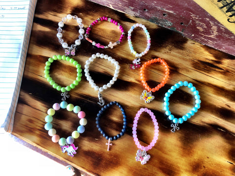 Beaded Stack Bracelets for Little Girls