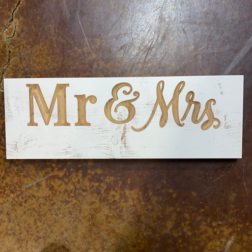 Mr. & Mrs. Engraved sign