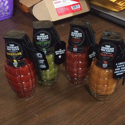 The General's Hot Sauce in Grenade Bottle