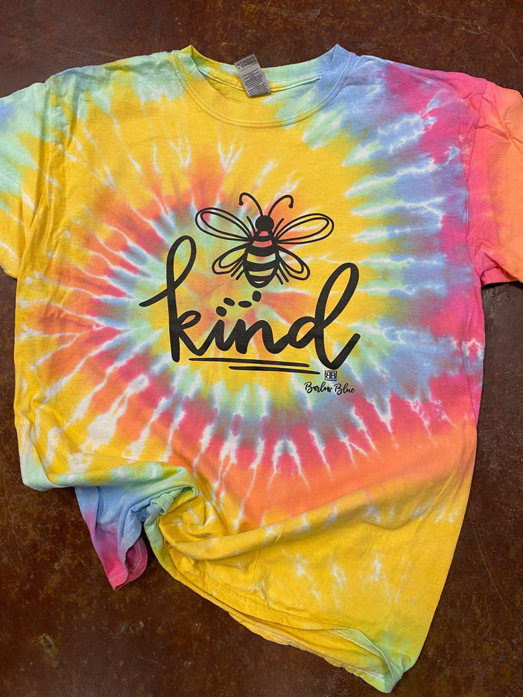 Bee Kind tie dyed tee.