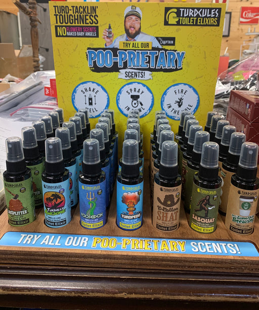 Turdcules Toilet Spray for Menly Men.  Poopourri for men.
