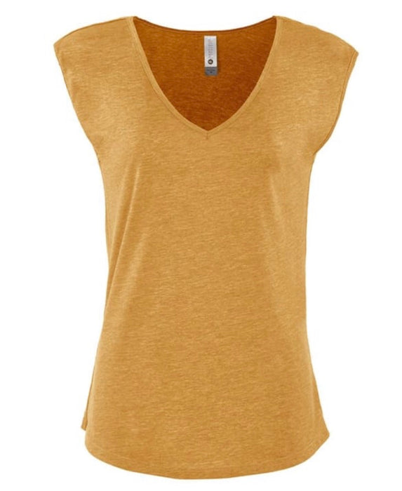 Sleeveless V Neck Tee.  Perfect Transition Tank.  Women's fit.