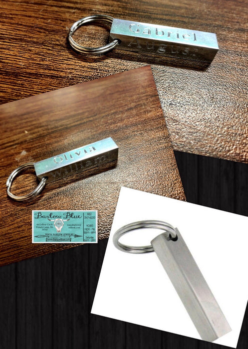 4 Sided Personalized Key Chain. Perfect for Dad, Groomsmen, Guys, and more!