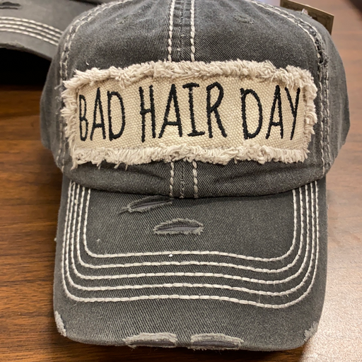 """Bad Hair Day"" distressed  hat for ladies"