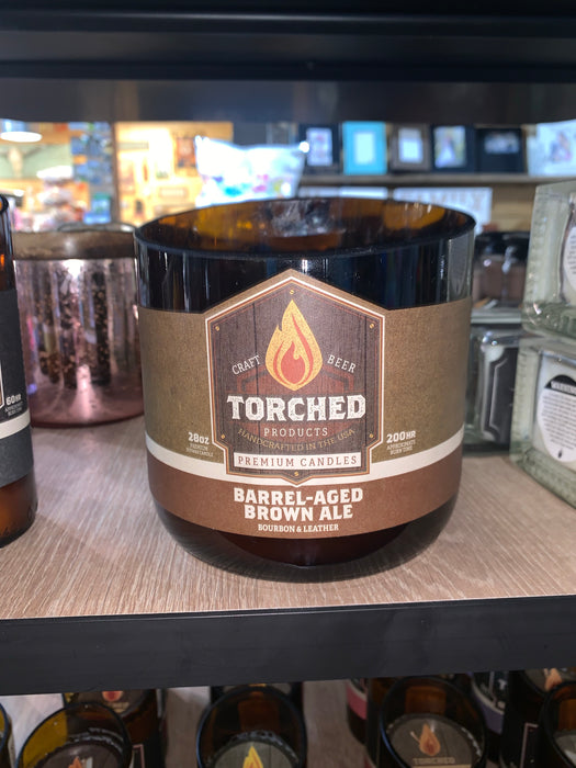 Torched Spirits 28 oz Barrel-Aged Brown Ale Candles