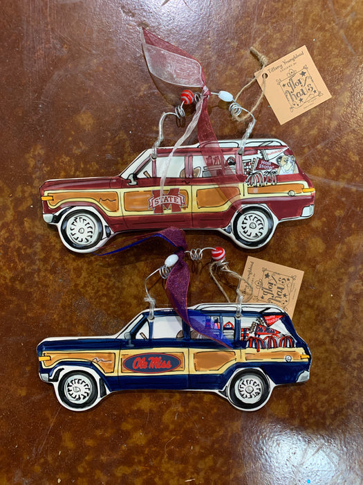 Ole Miss/ Ms State Wagoneer Ornament