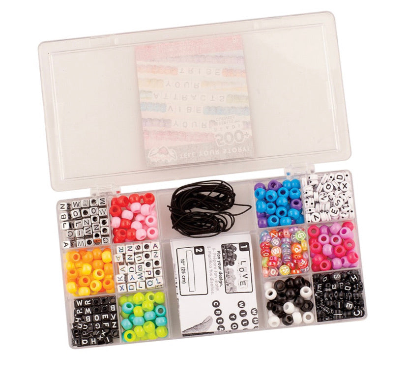 Bracelet Making Kit. Tell Your Story Beads Case.  DIY Jewelry