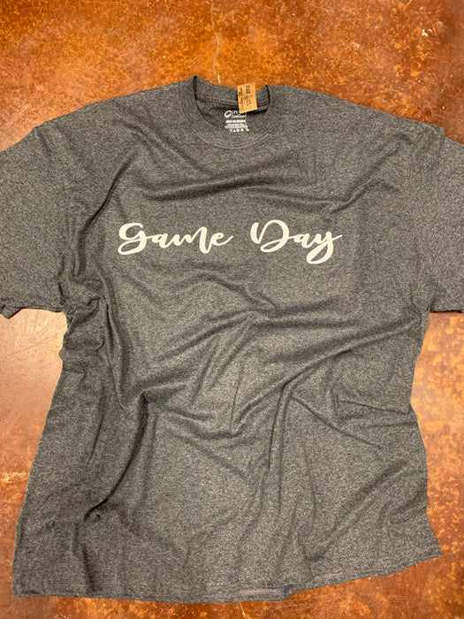 """ Game Day ""  $6 CLEARANCE TEES!  $8 For Long Sleeves!  GREY or BLACK shirt!"