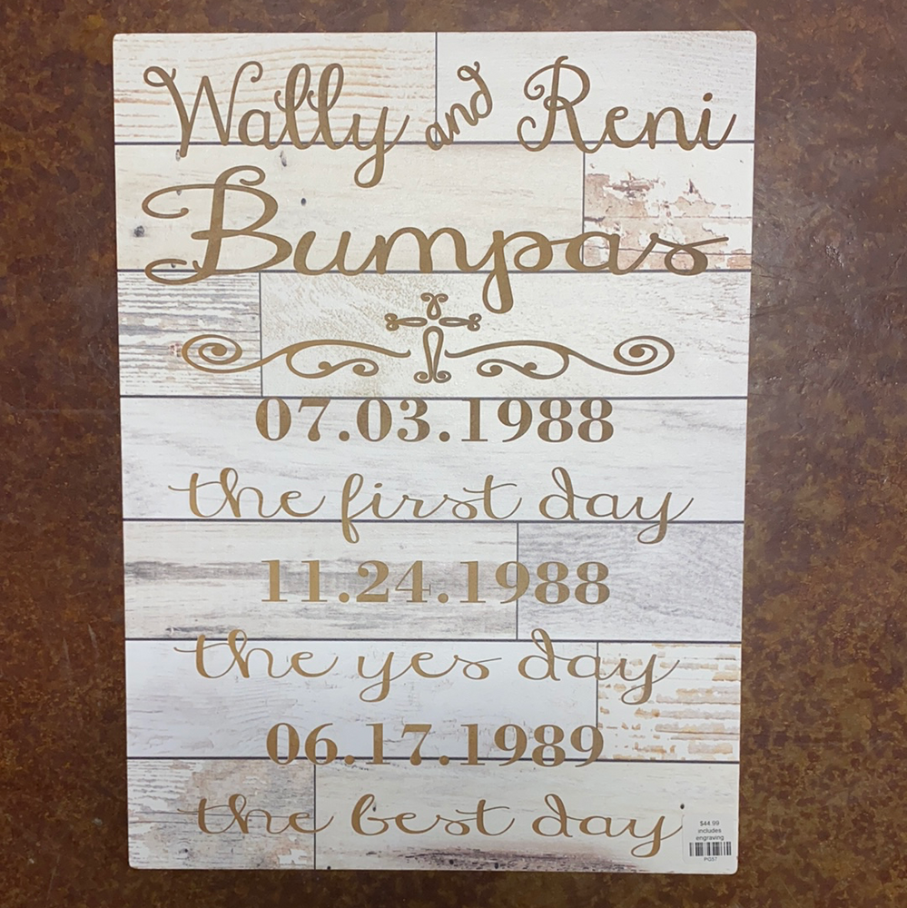 Personalized White Wood Board