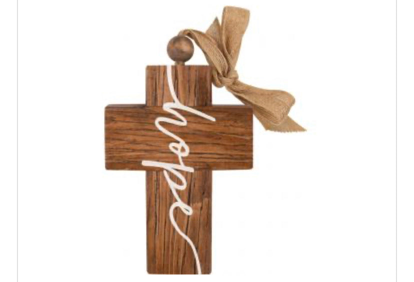 Chunky Wood Crosses for Sitting or Hanging