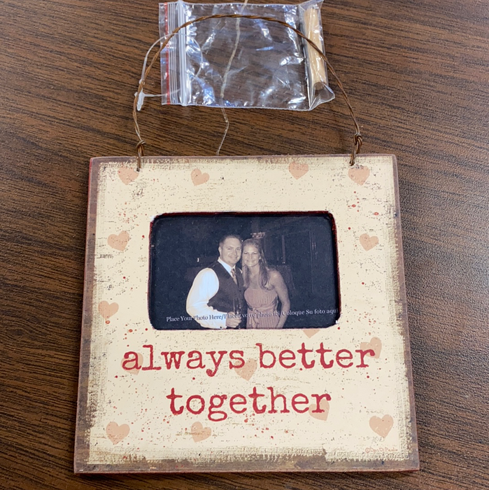 "Hanging or Standing Magnetic Picture Frame 4.5""x4.5"".  Several styles available."