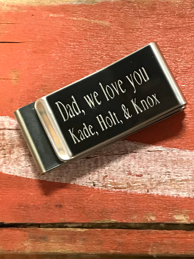 Personalized Metal Money Clip