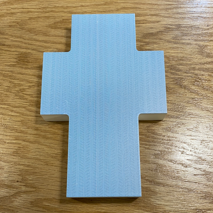 5x8 Cross.  Can be personalized to say whatever you want.