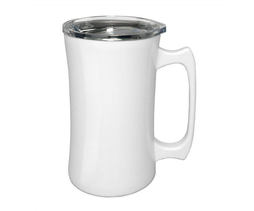 Stainless Steel Coffee Mug with Handle.  Can be personalized!