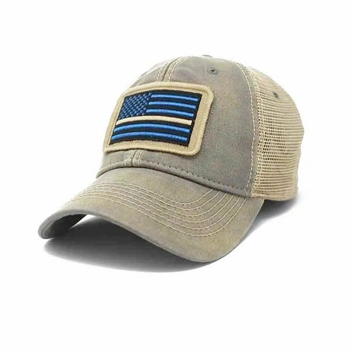 Thin Line EMS Flag Trucker Hat