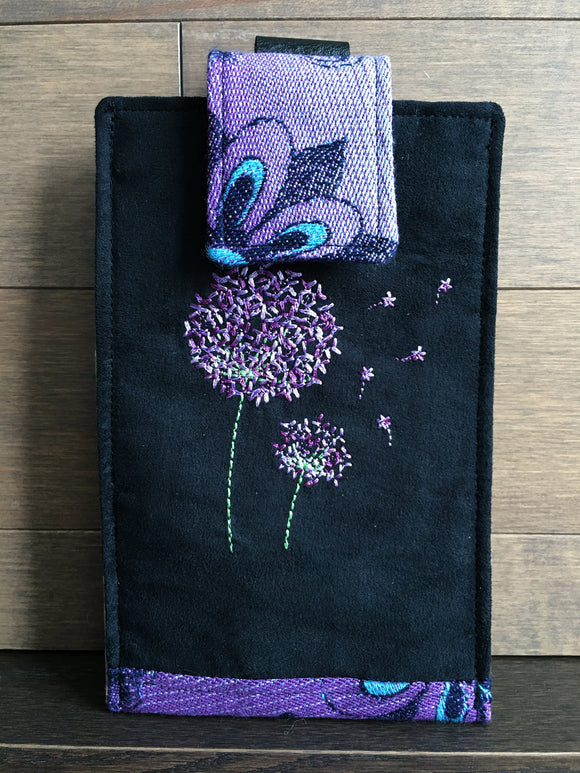 Rainbows and Dandelions Phone Pouch with Internal Card Pocket