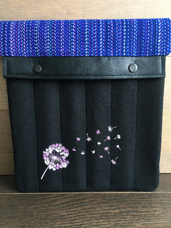 Violet Rainbow Dandelions Large Needle Wallet and Organizer