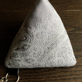 Dark Lace Triangle Zipper Pouch in size medium
