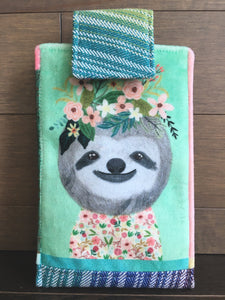 Botanical Beasts Sloth Phone Pouch with Internal Card Pocket