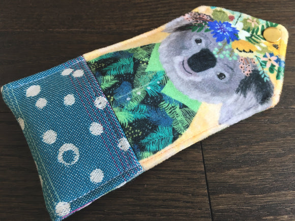 Botanical Beasts Koala Padded Glasses Case