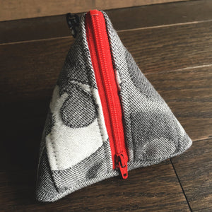 Grey and Red Rebel Insignia Pyramid Pouch