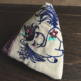Whimsical Unicorn and Rainbow Fabric Pyramid Pouch