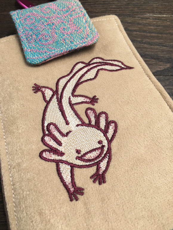 I Love You A'Lotl Phone Pouch with Internal Card Pocket